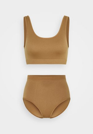 MARIT METTE SET - Bustier - brown medium dusty unique