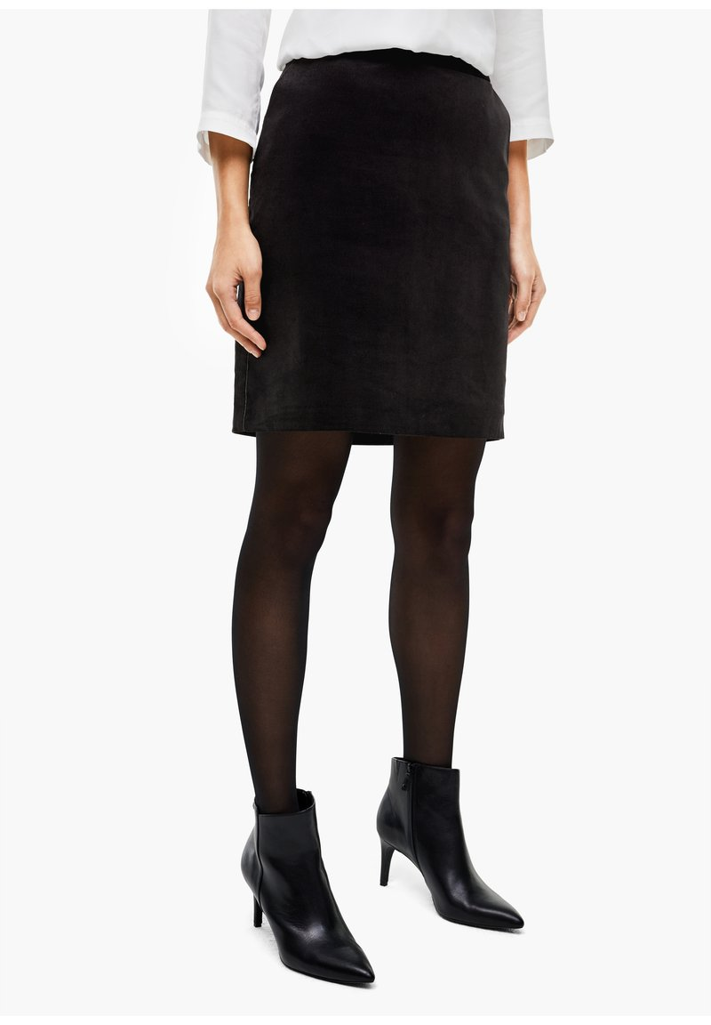 s.Oliver BLACK LABEL - Mini skirt - true black