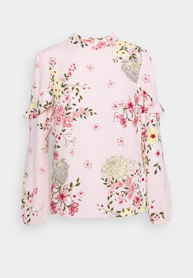 FLORAL TIERED SLEEVE - Long sleeved top - blush