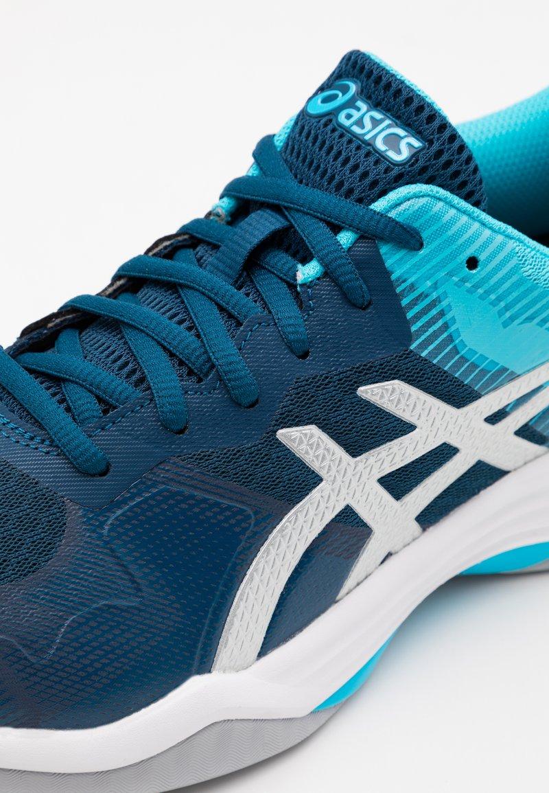 ayudante Jajaja Condensar  ASICS GEL TACTIC - Volleyball shoes - mako blue/pure silver/blue -  Zalando.ie