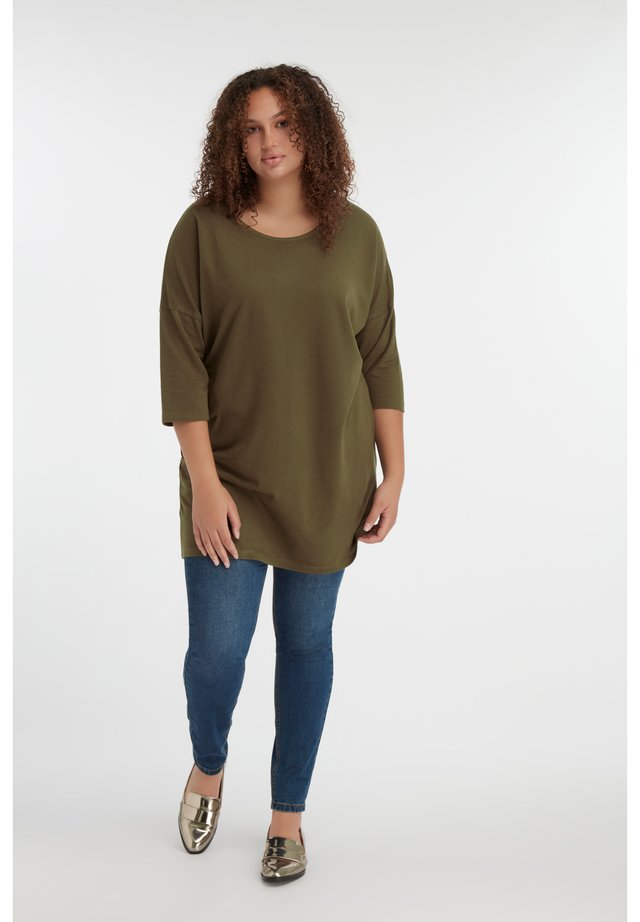 MS MODE - Long sleeved top - khaki