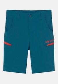 TrollKids - KJERAG ZIP OFF  2-IN-1 UNISEX - Outdoor trousers - petrol/spicy red - 2