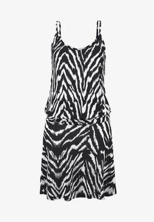 Beach accessory - schwarz-weiß-bedruckt