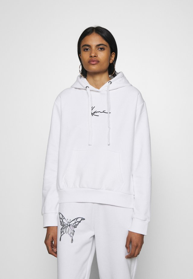 SMALL SIGNATURE HOODIE - Mikina s kapucí - white