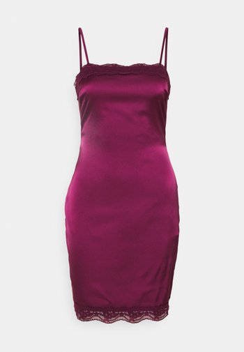 BODYCON MINI DRESS - Cocktail dress / Party dress - burgundy