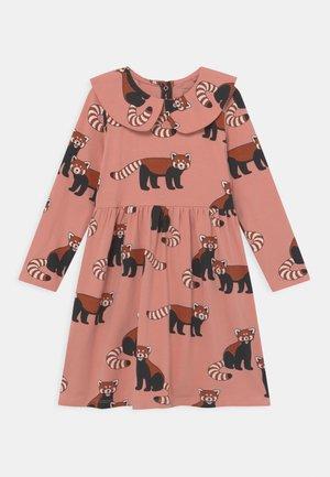 MINI DRESS BIG COLLAR RED PANDA - Jerseykjoler - dusty pink