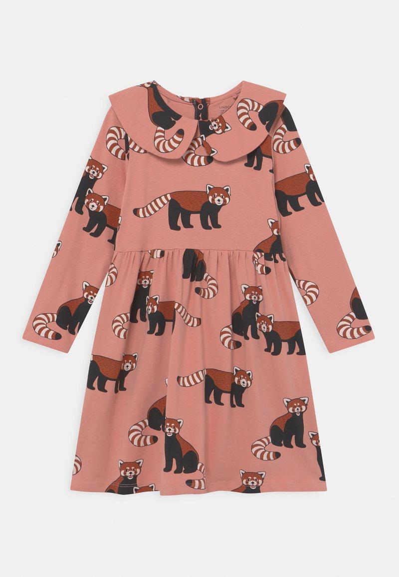Lindex - MINI DRESS BIG COLLAR RED PANDA - Jersey dress - dusty pink