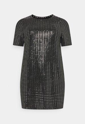 PCHAILA DRESS CURVE - Cocktail dress / Party dress - black/silver