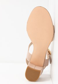 Anna Field - LEATHER HEELED SANDALS - Sandals - nude - 6