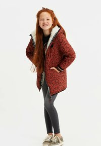 WE Fashion - MET CAPUCHON REVERSIBLE - Winter coat - terra cotta - 2