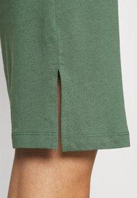 Even&Odd - BASIC - Short sleeves mini belted dress - Jersey dress - khaki - 4