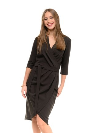 CENTRAL - Day dress - black / blue
