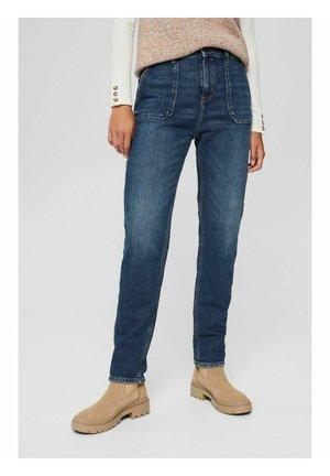 BOYFRIEND - Jeans slim fit - blue dark washed