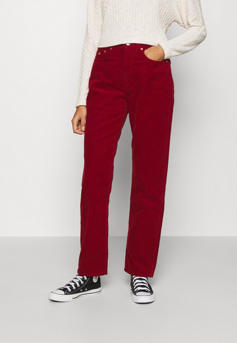 Tommy Jeans - HARPER STRAIGHT ANKLE - Trousers - wine red