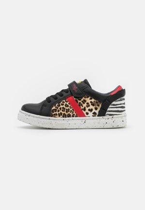 Sneakers laag - nero/beige
