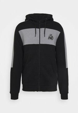 CHAPMAN ZIPTHOUGH HOODIE - Zip-up sweatshirt - black/sharkskin