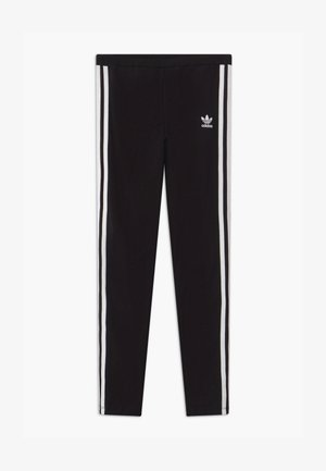 SOLID - Leggings - Trousers - black/white