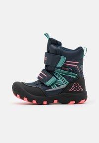 Kappa - TEX UNISEX - Winter boots - navy/pink - 0