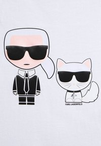 KARL LAGERFELD - IKONIK CHOUPETTE TEE - T-Shirt print - white - 5