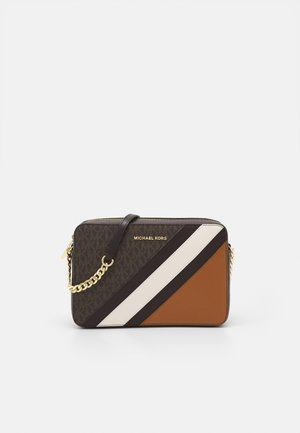 JET CROSSBODY COLOUR BLOCK - Bandolera - brown/acorn