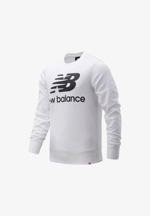 ESSENTIALS STACKED LOGO CREW - Sweatshirt - white