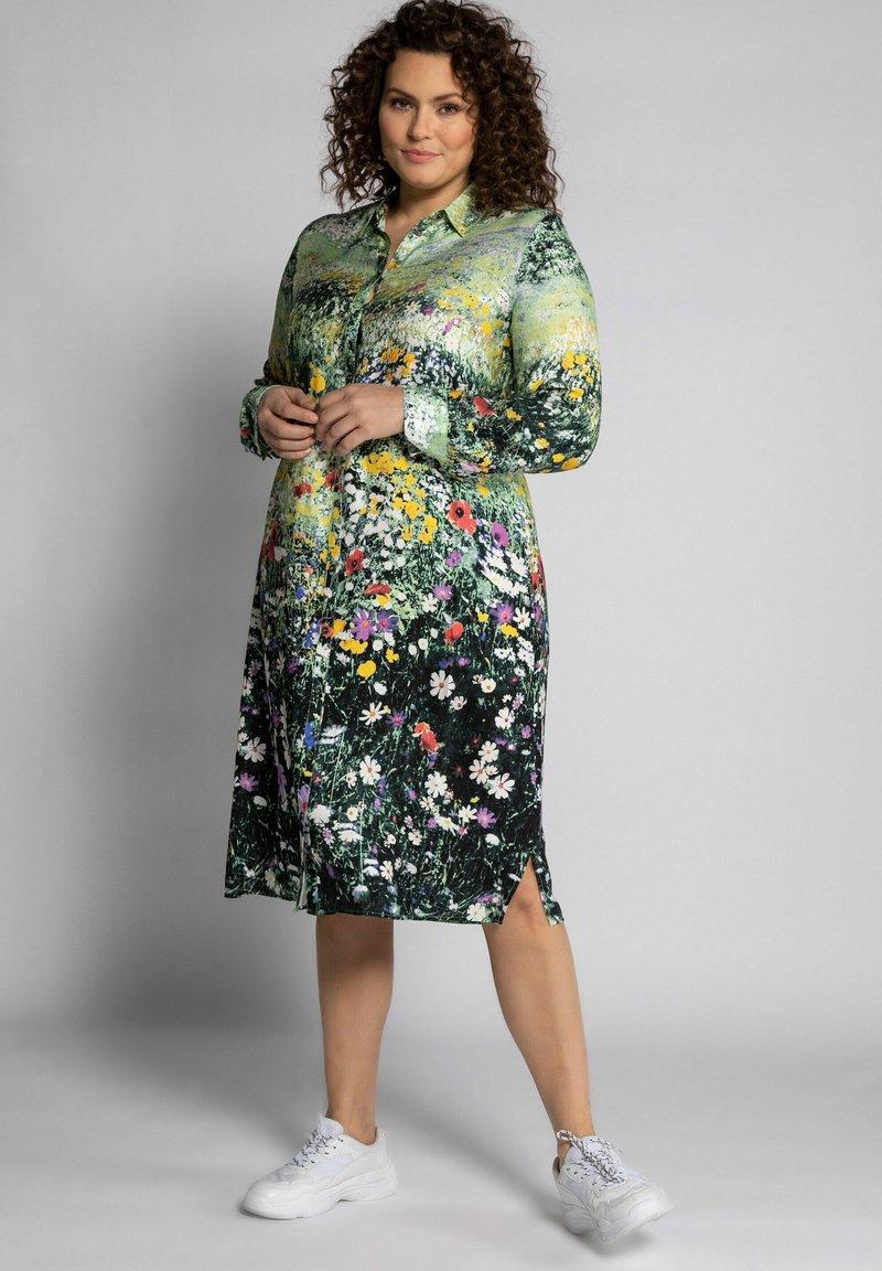 Ulla Popken - Shirt dress - schwarzoliv