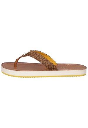 T-bar sandals - cognac g45