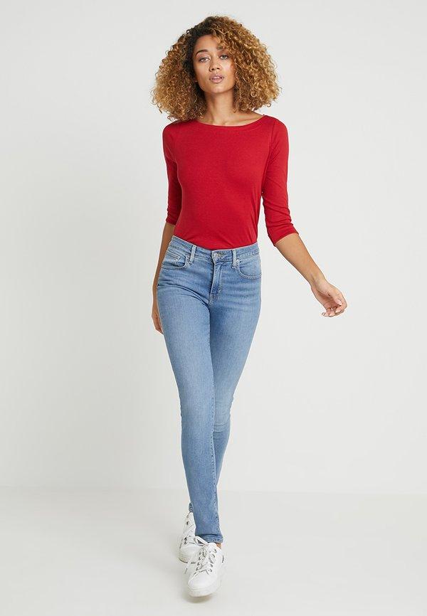 Esprit Bluzka z długim rękawem - dark red Kolor jednolity Odzież Damska NEQZ UQ 1