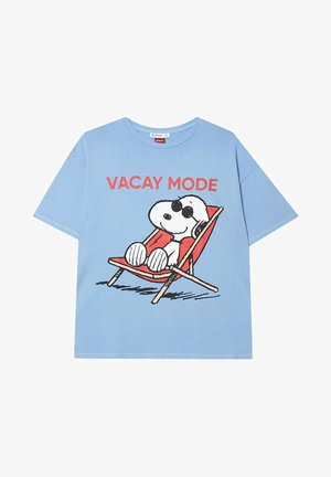 SNOOPY  - T-shirt imprimé - light blue