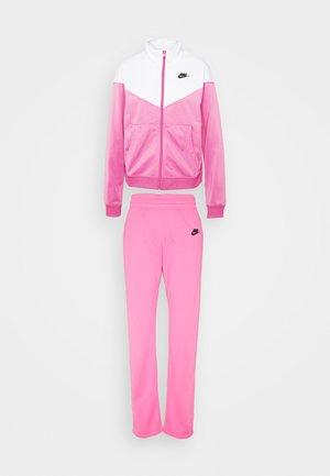 SUIT SET - Träningsset - pinksicle/white/black