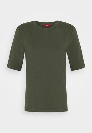 KURZARM - Jednoduché triko - khaki