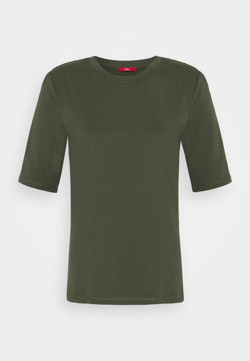 s.Oliver - KURZARM - Basic T-shirt - khaki