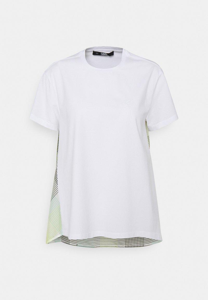 KARL LAGERFELD - ORGANZA BACK - Print T-shirt - white