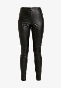 ONLY - ONLHIKE ANKLE CUTLINE PANT - Leggings - black - 3