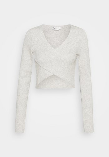 CROSSOVER - Long sleeved top - grey