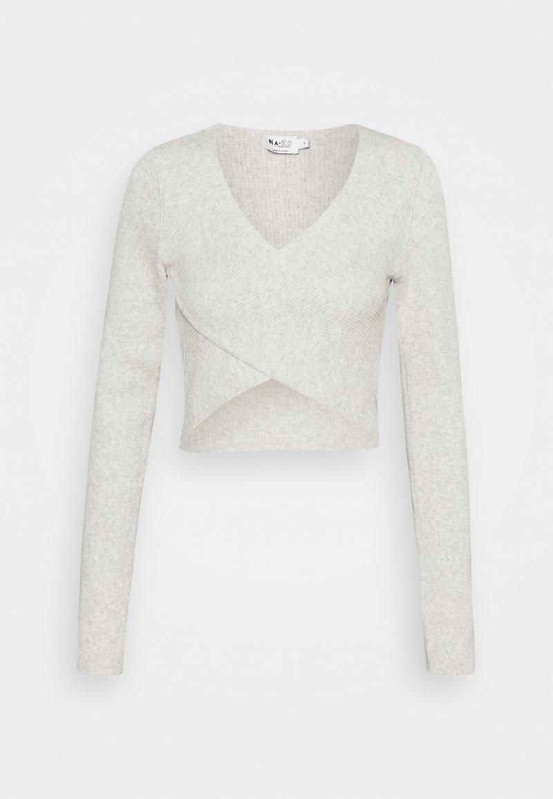 NA-KD - CROSSOVER - Long sleeved top - grey