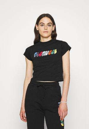 MONO LOGO CROP TEE - T-shirt print - black