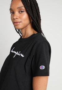 Champion Reverse Weave - Print T-shirt - black - 4