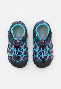 Kamik - CRAB UNISEX - Walking sandals - navy teal/marine bleu sarcelle - 3