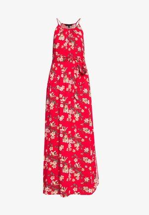 VMSIMPLY EASY SLIT DRESS - Maxikleid - goji berry/johanna
