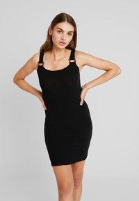 New Look - BUCKLE MINI DRESS - Vestido de tubo - black - 0