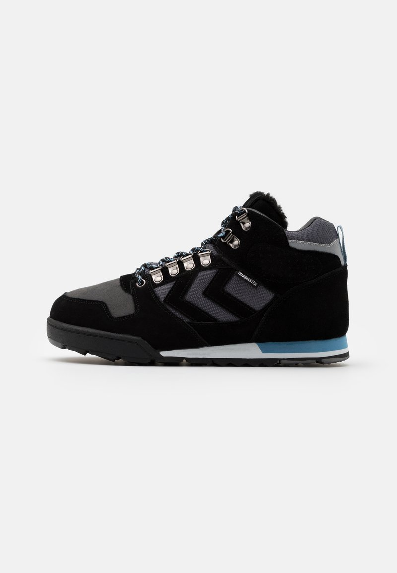 Hummel - NORDIC ROOTS FOREST MID UNISEX - Sneakersy wysokie - black