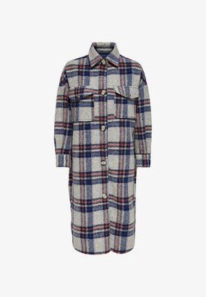 LULU - Classic coat - light grey melange/w