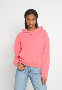 Nike Sportswear - WASH HOODIE - Sweatshirt - sunset pulse/black - 0