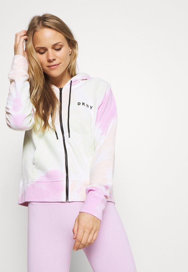 MULTI TIE DYE ZIP HOODIE - veste en sweat zippée - multi