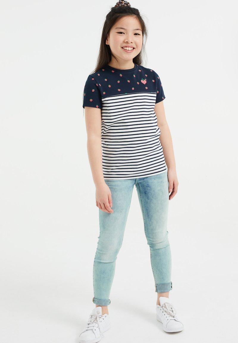 WE Fashion - Print T-shirt - blue