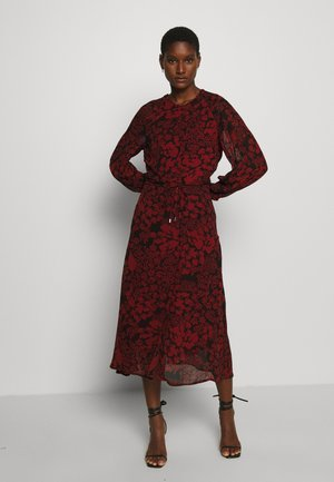 Shirt dress - cayenne poetic