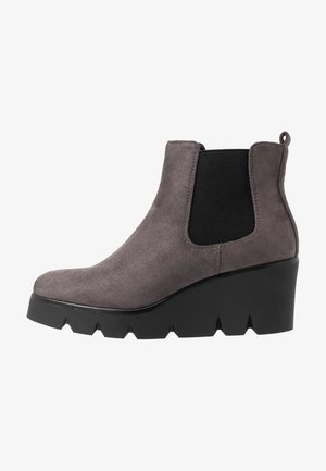 Wedge Ankle Boots - grey