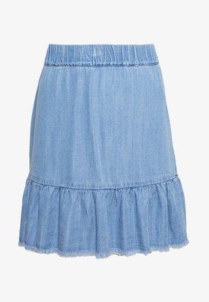 BYLANA SHORT SKIRT - Jupe trapèze - med blue denim