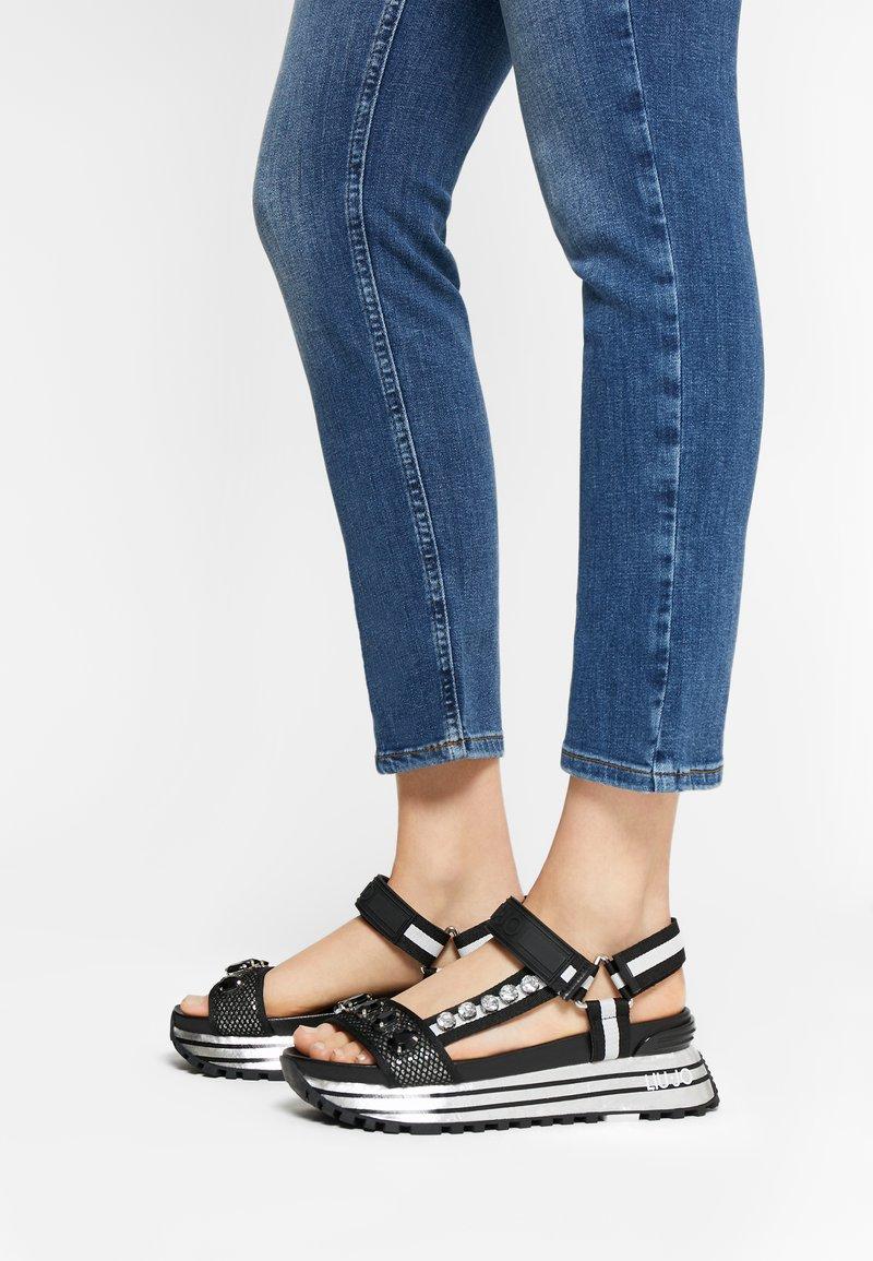 Liu Jo Jeans - MAXI - Platform sandals - black